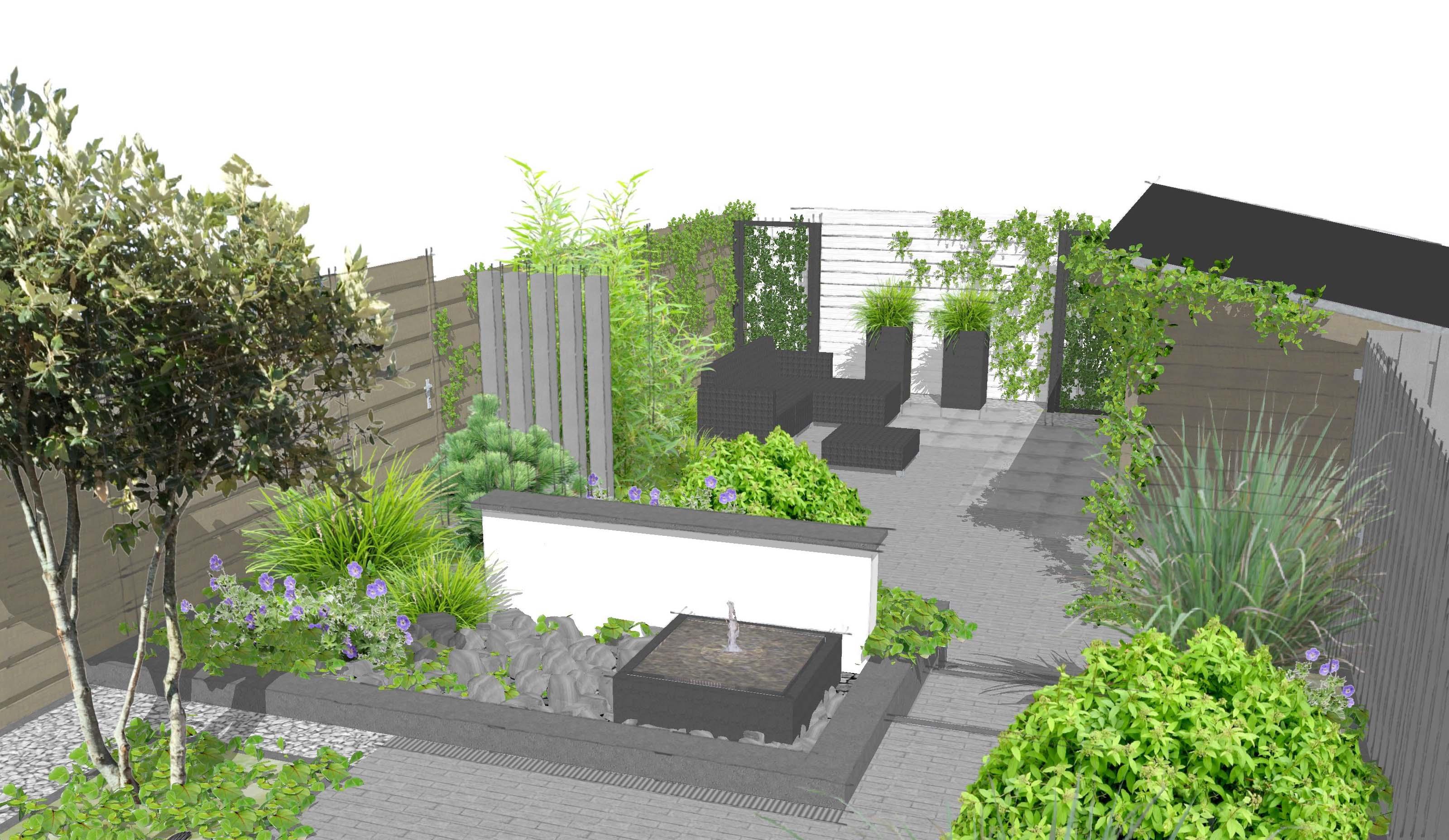 Voorbeelden tuinontwerp tuinaanleg tuinonderhoud for 3d tuin ontwerpen